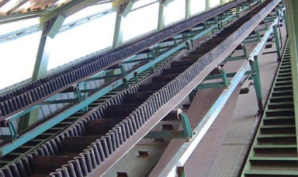 Steep / High Angle Belt Conveyor